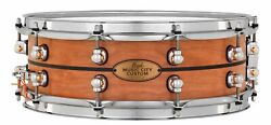 Pearl Music City Custom Solid Cherry 14x5 Snare Drum W/inlay Natural W/ebony I