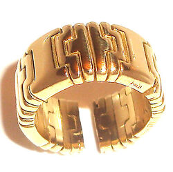Signed Fred 18k Gold Heavy Flexible Ring, Band 2/3 Oz From Beverly Hills Rodeodr