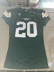 Adult Large Authentic Colorado State Rams 20 Russell Athletic Football Jersey
