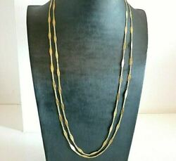 Collier Antique Trandegraves Longue Ans 20 Made In Italy Or Massif 18k Andagrave Pastilles