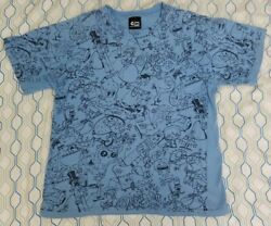 Vtg Cartoon Network Fosters Home For Imaginary Friends All Over Print T Shirt Xs