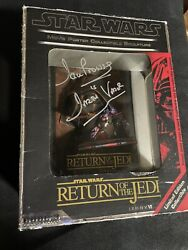 Star Wars Movie Poster Sculpture Return Of The Jedi Limited Signed David Prowse