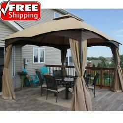 Gazebo Replacement Canopy 10x12 Top Allen Roth 12s004b Beige Shade Accessory Big