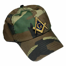 Masonic Hat On Camouflage 20+ Embroidered Logos To Choose From For Most Orders