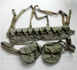 Chinese Army Type 56 Sks Cartridge Clip Pouch And 2x Rpd Drum Magazine Pouch Bag