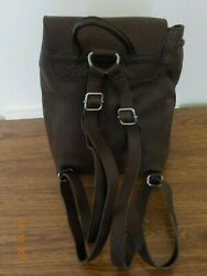 Vintage GH Bass Brown Leather Backpack Purse $25.00