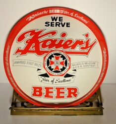 Vintage Round Kaier's Yuengling Metal Beer Tray White W/red 11 1/2 Diameter Pa