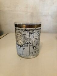 6 Cera Dow Jones Industrrial Average Double Old Fashioned Glasses 1958 - 1968