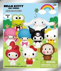 Hello Kitty And Friends 3d Foam Collectible Figural Bag Clip Mystery Bag Series