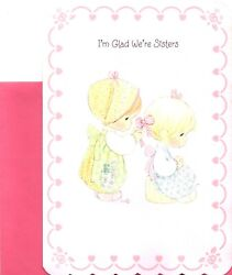 Happy Valentine's Day Sister Sisters Precious Moments Ambassador Greeting Card