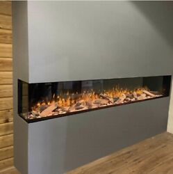 Electric Fire Sf1250 - 50inch - Hd+ Panoramic 3/2and1sided Glass -media Wall Fires