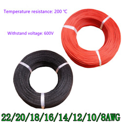 High Temperature Resistant Silicon Tinned Copper Cord Cable Wire Power Cord Lot