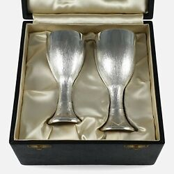 Cased Pair Of Sterling Silver Court Cups, Christopher Lawrence, 1974