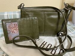 Hobo International Army Green Cadence Crossbody With Matching Credit Cart Wallet $49.99