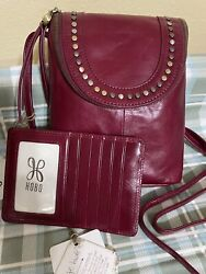 Hobo International Garnet Red Studded Fern Crossbody With CC Wallet $49.99