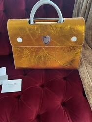 Christian Dior Copper 🤎🤎 Rare Crinkle Leather Large Diorever Bag Silver Hw