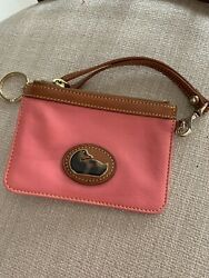 dooney and bourke Small Wristlet In Melon With Key Keeper $24.96
