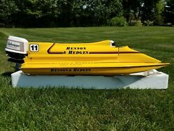 Amps International Hobbies Rc Boat Velden Hull And Johnson Outboard W/ Spare Parts