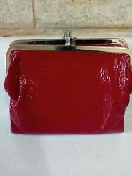Hobo international Red Patent Leather Wallet Clutch $35.00