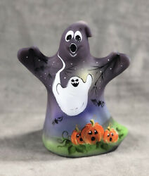 Fenton Glass Halloween Ghost Hand Painted By Fenton Artist M. Kibble 10 Of 27