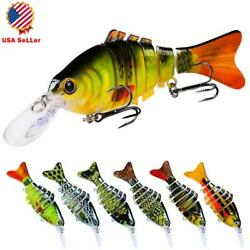 11.2cm/14g Fishing Lures 7 Segment Fish Bass Minnow Swimbait Tackle With 6 Hook