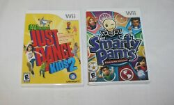 Wii 2 Game Bundle Lot Just Dance Kids 2 Nintendo And Smarty Pants Rated E Sealed