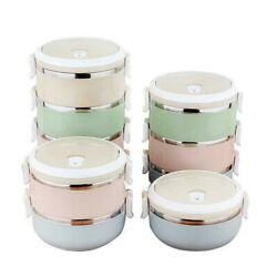 Students Lunch Box Travel Accessories Stainless Steel Bento Organizer 700ml