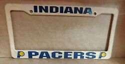 Retro Auto Car Plastic Nba Indiana Pacers Plate Frame Used