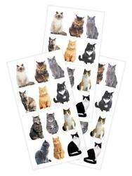 Mini Mixed Cats Kitty Stickers Planner Party Supply Papercraft Furry Pet Friends