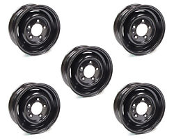 Set Of 5 Land Rover 16 X 5.5 Inch Black Steel Tube Style Wheels Part Anr4636pm