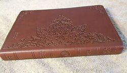 Crossway English Standard Version Bible 5.5x9 Brown Leather Look Soft Cover