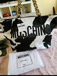 AUTHENTIC MOSCHINO TOTE BAG BRAND NEWPOLYESTER CANVASLARGE $560.00
