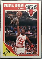 1989 90 Fleer Michael Jordan Scoring Average Leader Chicago Bulls #21 $30.00