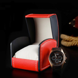 120x Red Single Watch Gift Boxes Pillow Pu Leather Mens Wristwatch Display Case