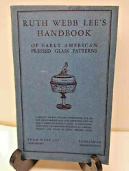 Ruth Webb Lees Of Early American Pressed Glass Patterns 1946 Revised Vg