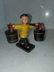 Vintage Chinese Water Girl Salt And Pepper Shaker Thanes Made In Japan
