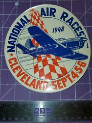 1948 National Air Races Cleveland Ohio Paper Decal Carling Red Cap Ale