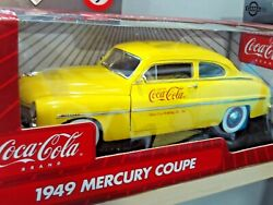 118 Scale Die Cast Johnny Lightning Coca Cola 1949 Yellow Mercury Coupe