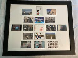 """Invader Hello My Game Is"""" Framed Postcard Set W/ Packaging Banksy Dface Pez"""