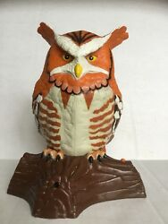 Vintage Rare Battery Operated Singing Talking Owl Collectible Toy