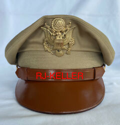 Ww2 Us Army Usaaf 50 Missions General Officers Service Crusher Visor Hat Cap