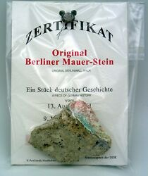 Large Authentic Piece Of The Berlin Wall With Certificate Of Authenticity
