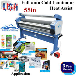 Qomolangma 55in Full-auto Wide Format Cold Laminator With Heat Assist-usa Stock