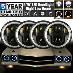 4x 5.75 5-3/4 Inch Led Headlight High Low Drl For Oldsmobile 442 98 F85 Cutlass