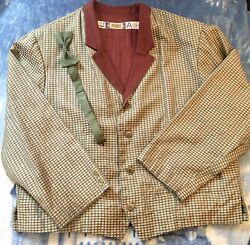 Disney Cast Member Costume Grand California Hotel Special Event Jacket And Bow Tie