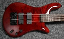 Spector Bantam Short Scale, Black Cherry Gloss With Rosewood Fingerboard And Emg