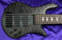 Spector Euro 6lx Matte Black Stain Over Figured Maple Top With Rosewood On Ord