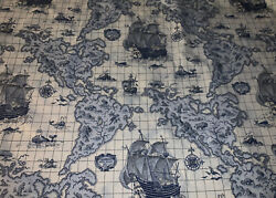 Travers And Co Andldquothe Americas 1631 Andldquo Fabric Off The Bolt Toile Map Style 6 Yrds
