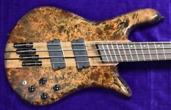 Spector Ns Dimension 4-string Faded Black Gloss Over Poplar Burl With Wenge...