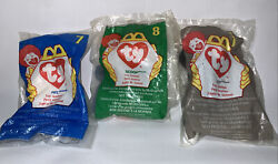 McDonald#x27;s Happy Meal Toy ty Toy Animal Lot of 3 Sealed Teenie Beanie Baby VNTG